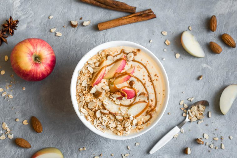 cinnamon oatmeal bowl
