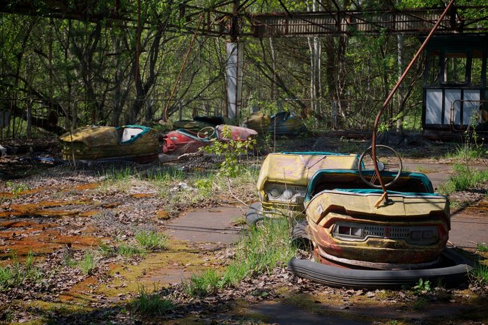chernobyl abandoned bumper cars