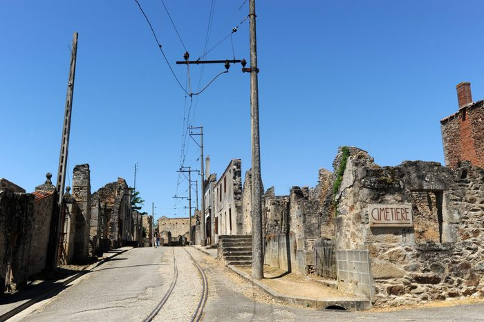 Various Oradour sur Glane the village in France where over 600 men women and children were killed by the Nazis in June 1944