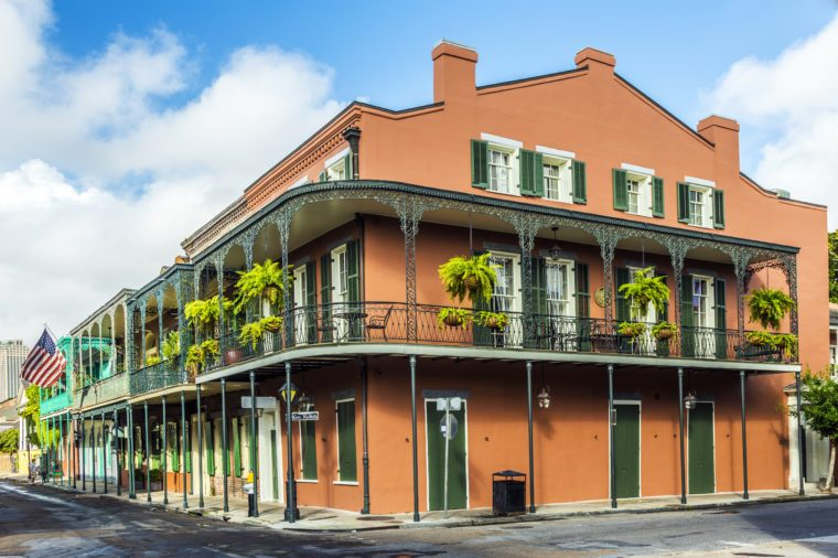 houses in historic building in the French Quarter in New Orleans