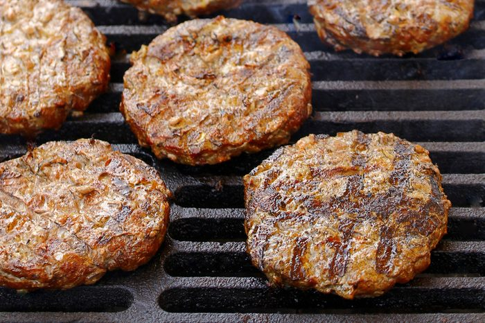 the Burgers on the grill grate
