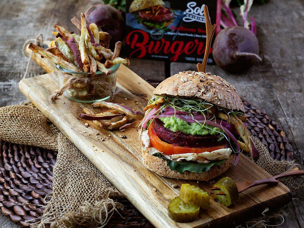 Test Drive - Sol Cuisine plant-based burger
