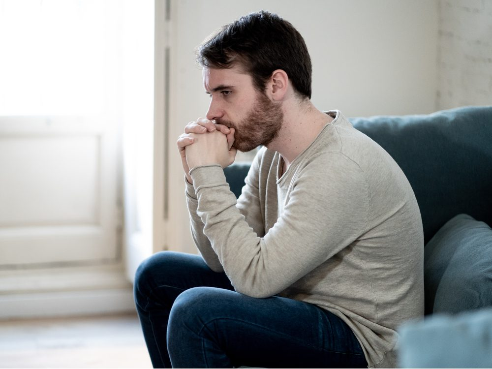Man suffering from depression