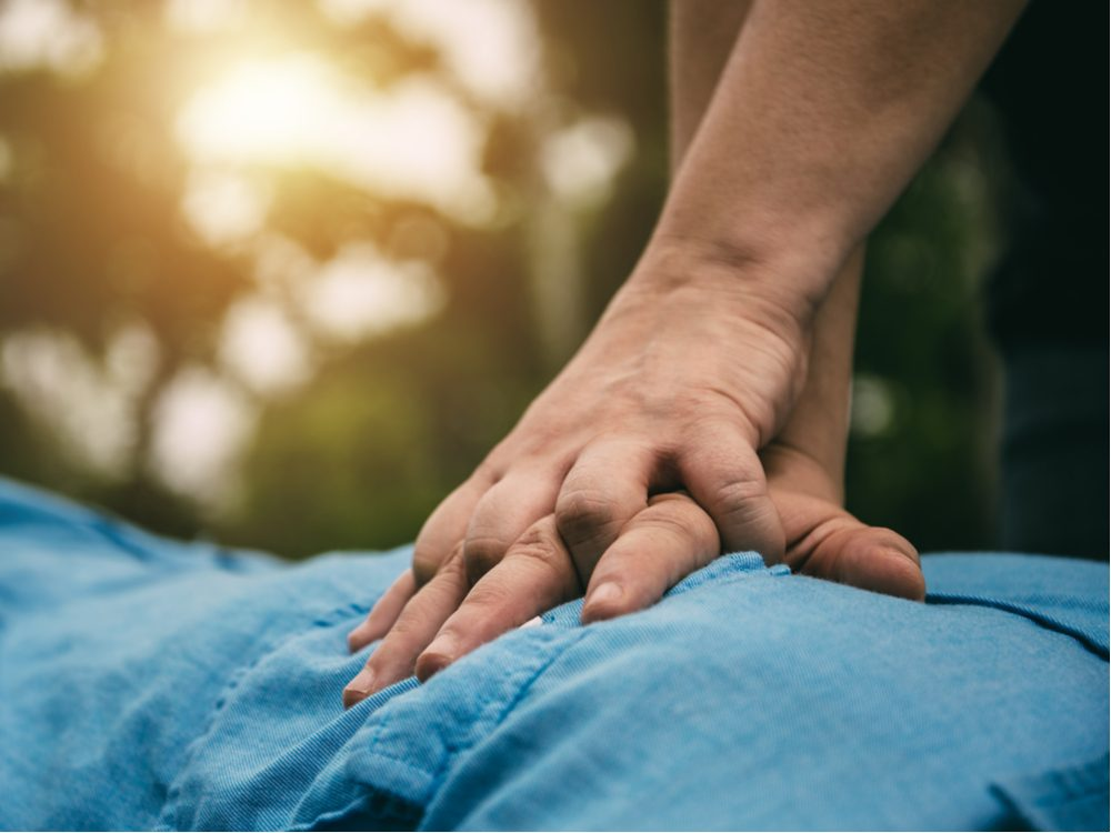 Man performing CPR