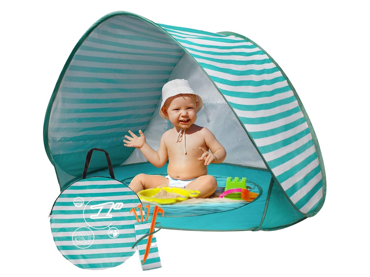 Summer life hacks - baby beach tent