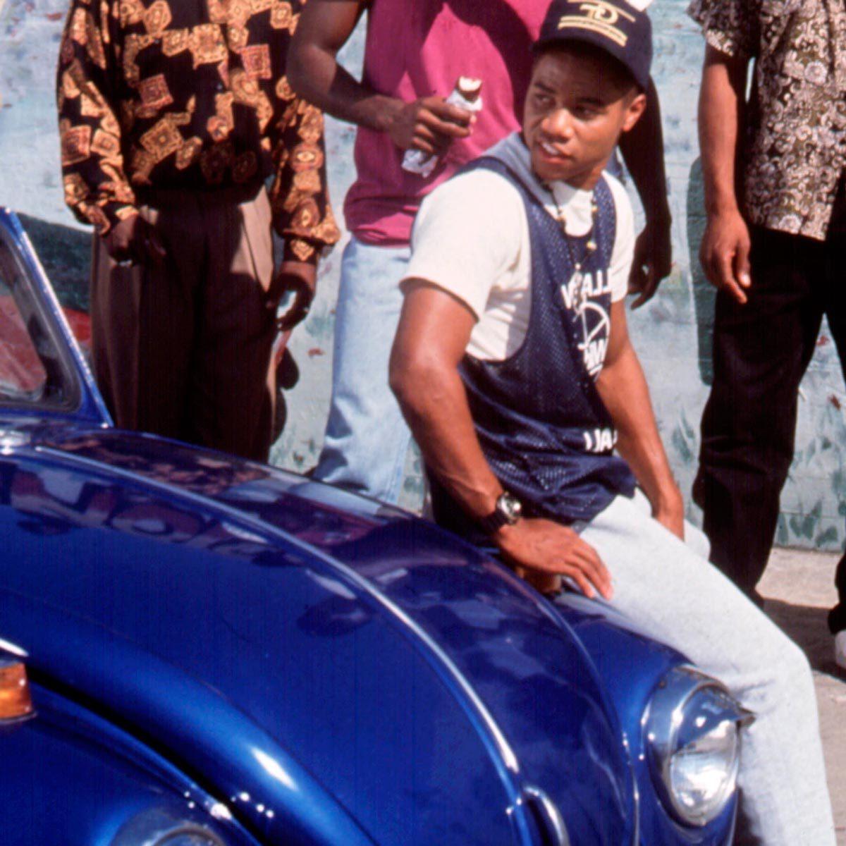 Cuba Gooding Jr blue VW bug from Boyz N the Hood