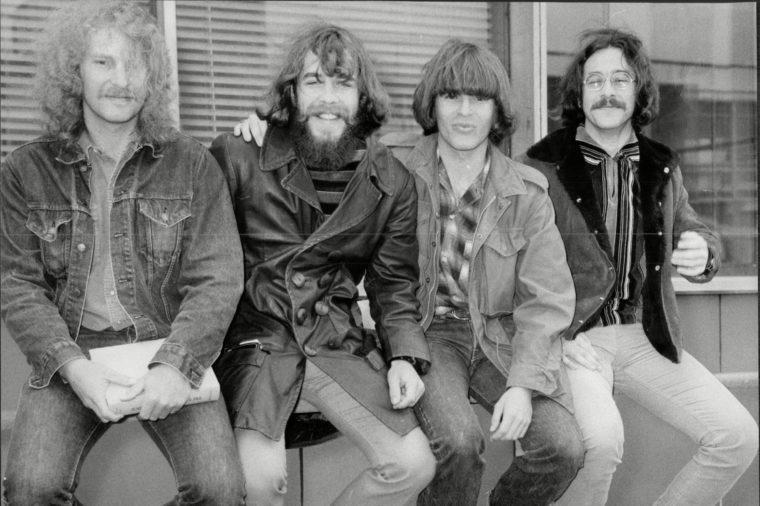 Creedence Clearwater Revival Pop Group Here At Heathrow Airport 1970.