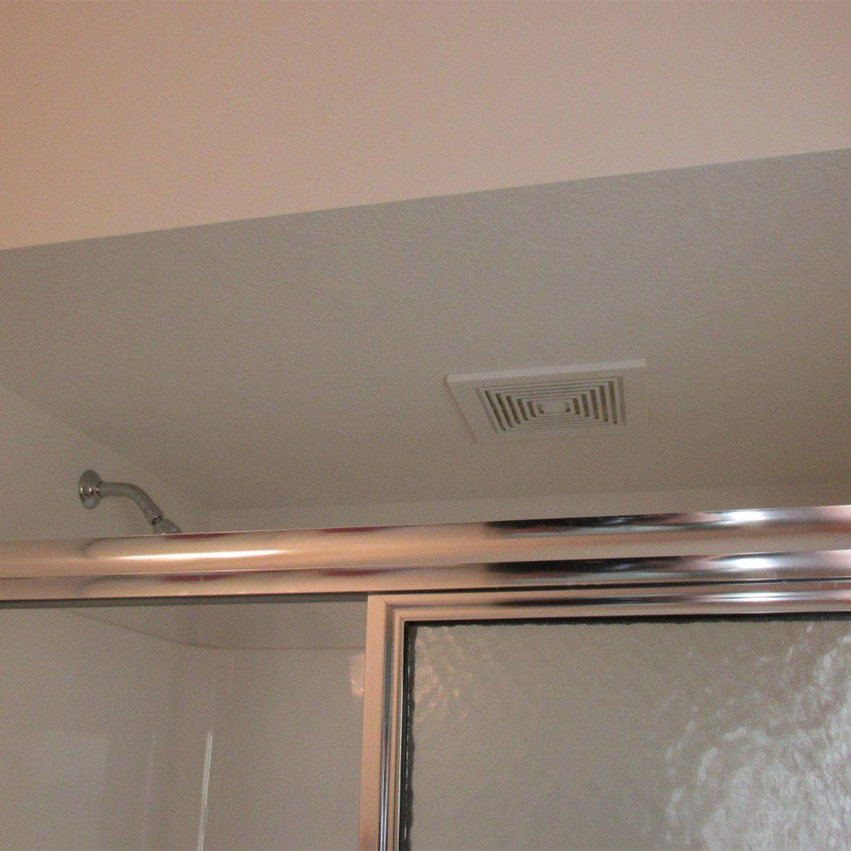 Bathroom fan inside shower