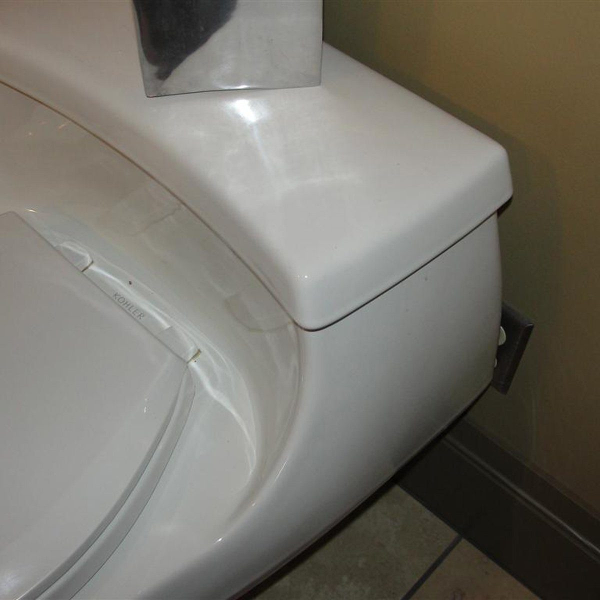 Blocked-Outlet behind toilet