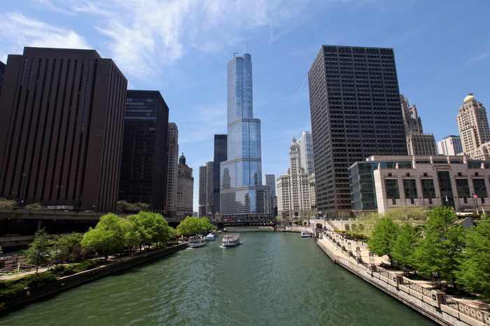 Chicago - The Trump International Hotel and Tower and Chicago River