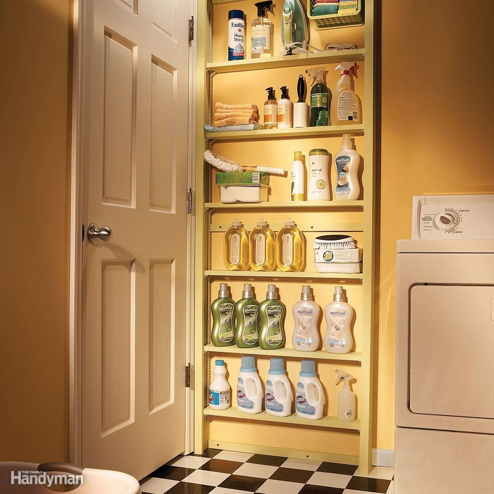 Behind-the-Door Shelves