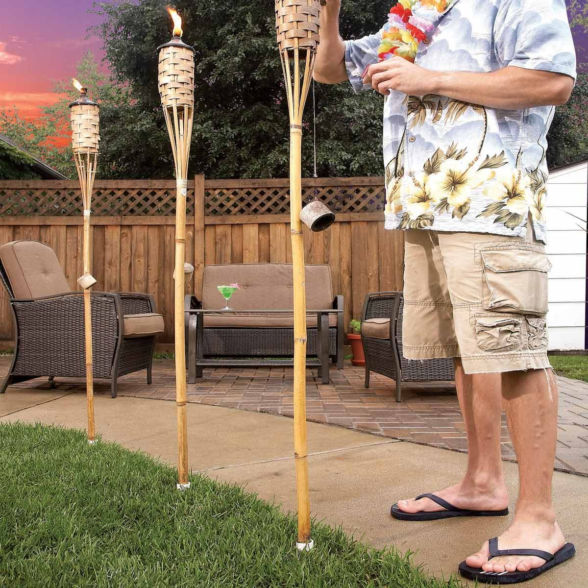 permanent tiki torch pvc holders