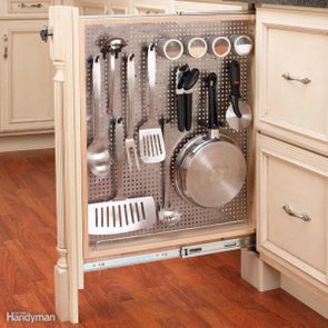Storage for small spaces - Household hints vertical kitchen cabinet storage
