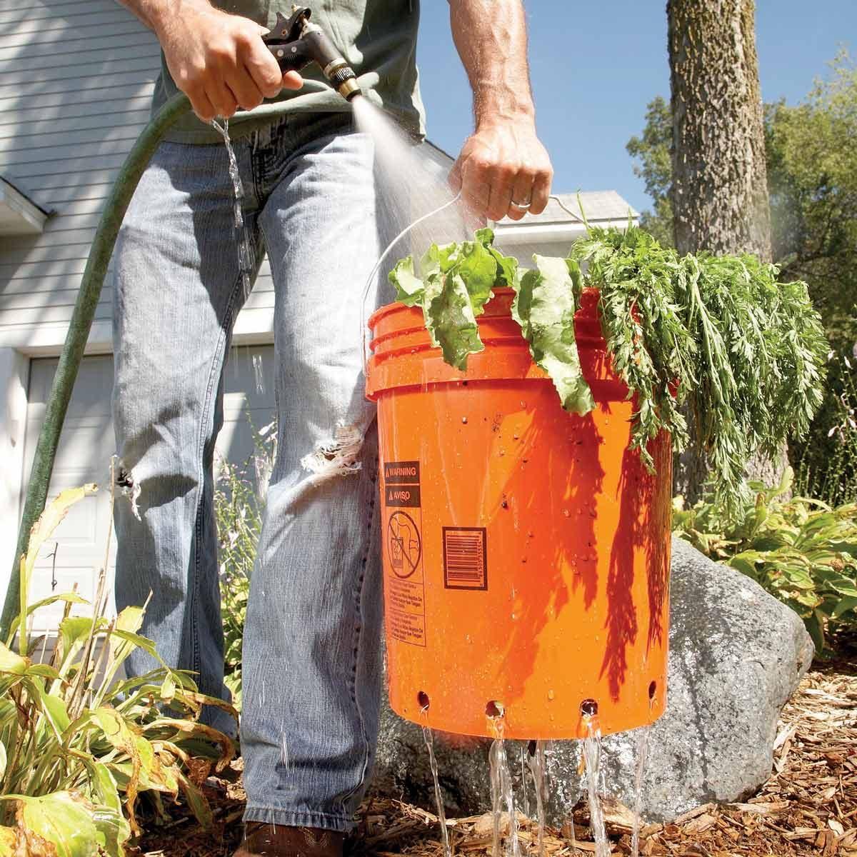 simple veggie washer 5 gallon bucket