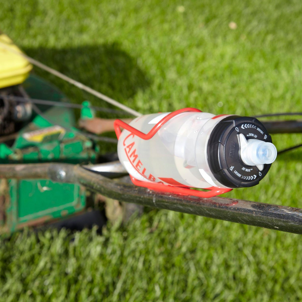 Water break on the go lawn mower