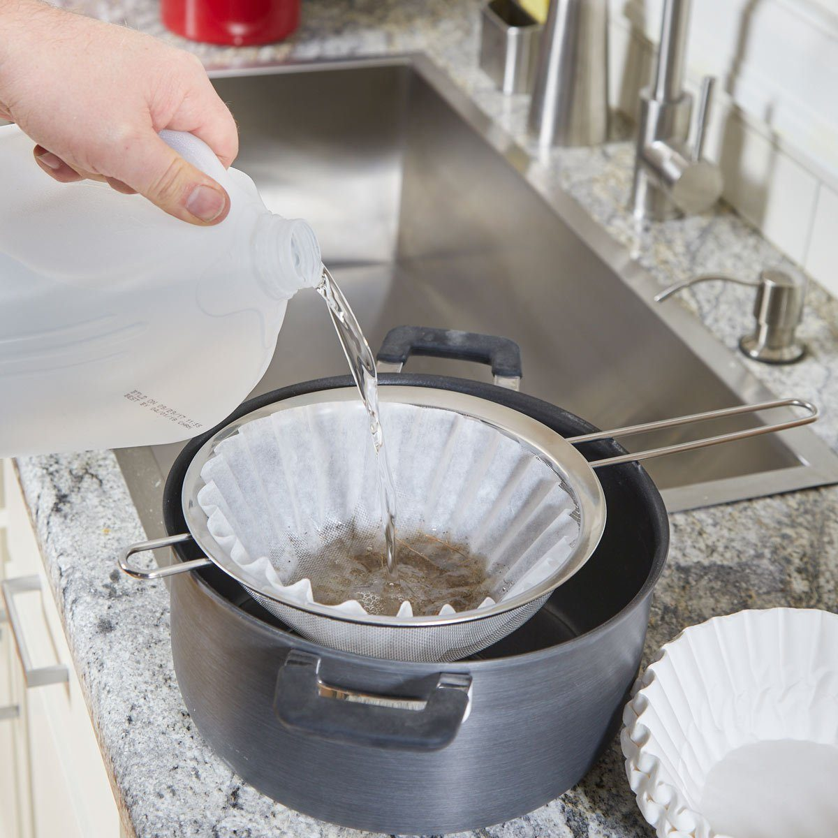 filter water with coffee fliters