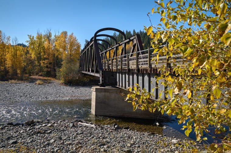Kettle Valley Rail Bridge, Princeton BC . The historic Kettle Valley Rail Bridge over the Tulameen River. Now part of the Trans Canada Trail system. Princeton BC.