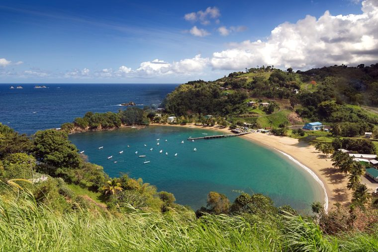 Republic of Trinidad and Tobago - Tobago island - Parlatuvier bay - Caribbean sea