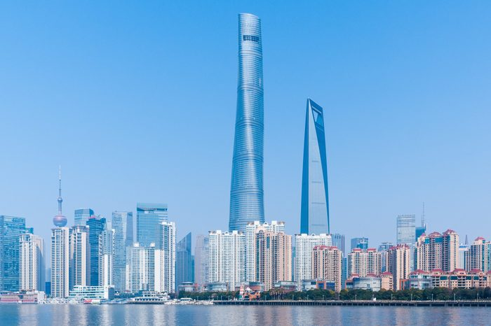 Shanghai Towers Cityscape on Bund