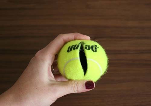 Tennis Ball Hiding Place