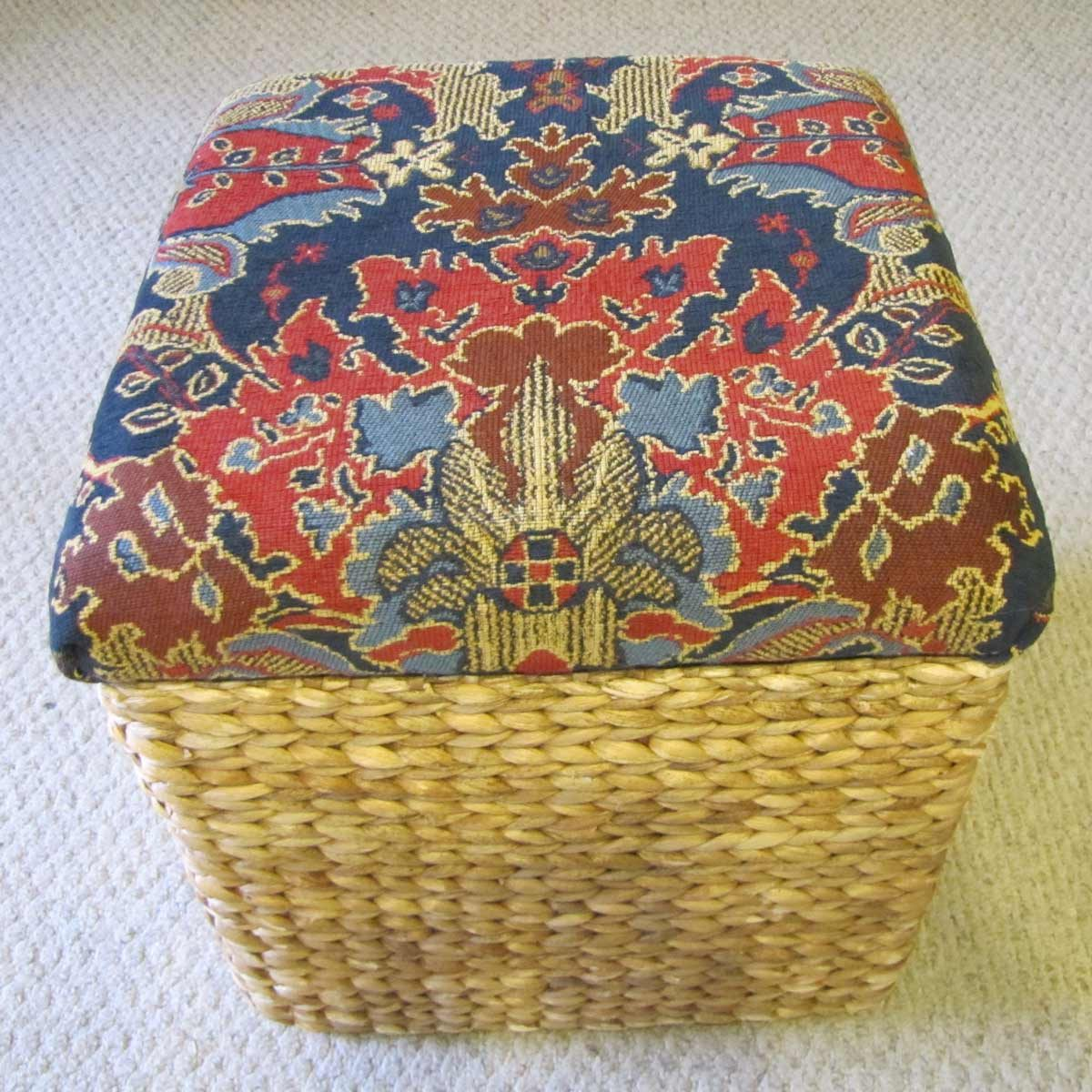 Basket footstool