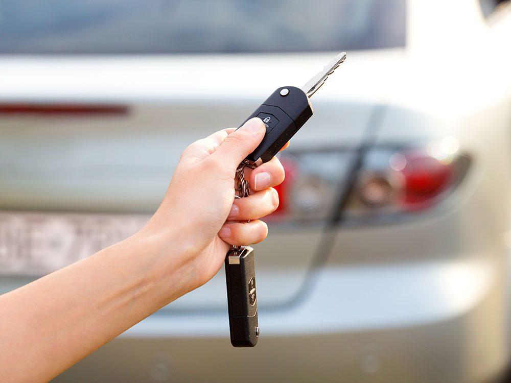 Car security tips - car alarm key fob