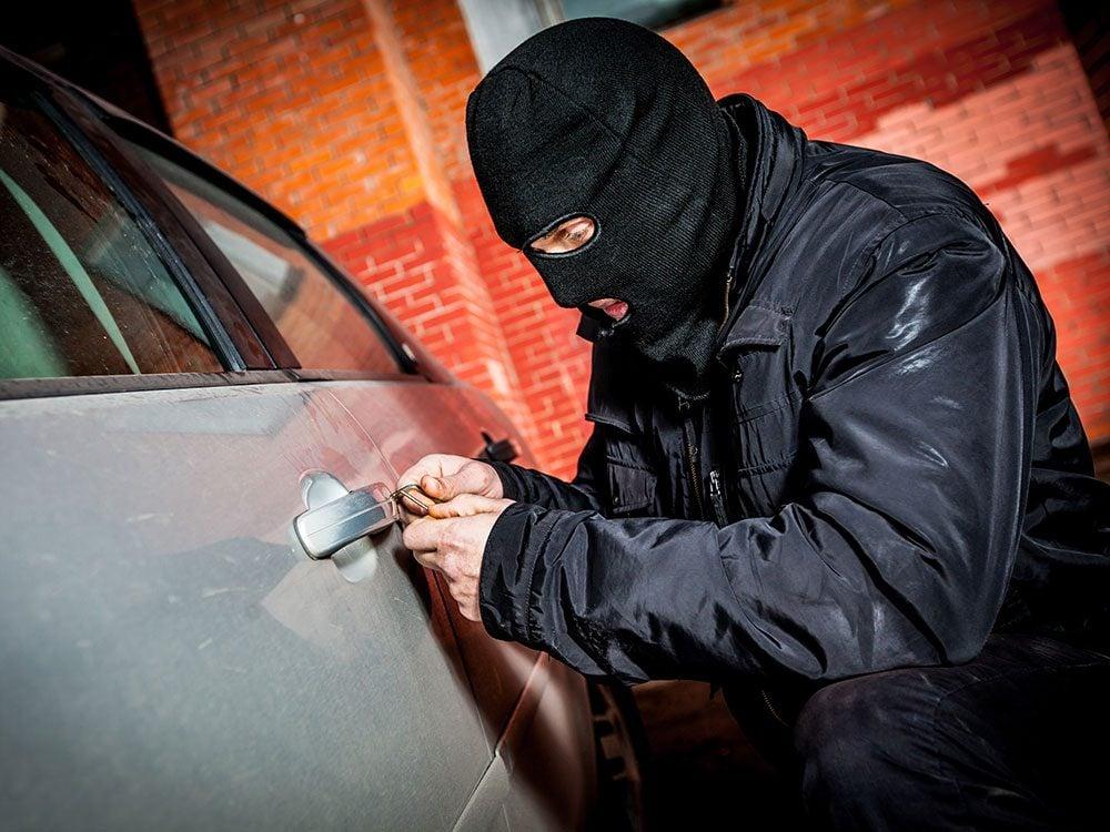Car security tips - car thief