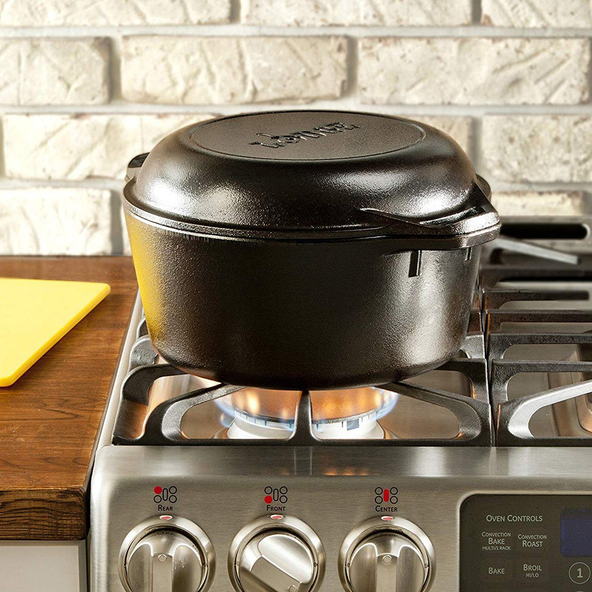 Lodge L8DD3 Cast Iron Dutch Oven, 5 qt,