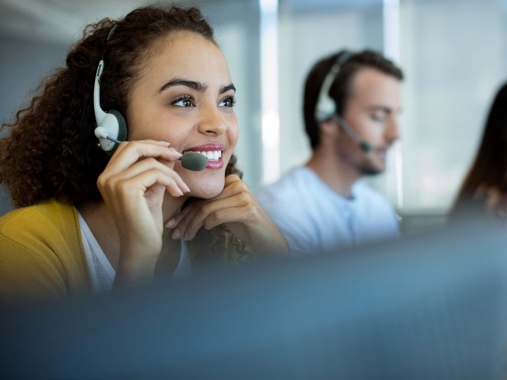 Customer service rep at call centre