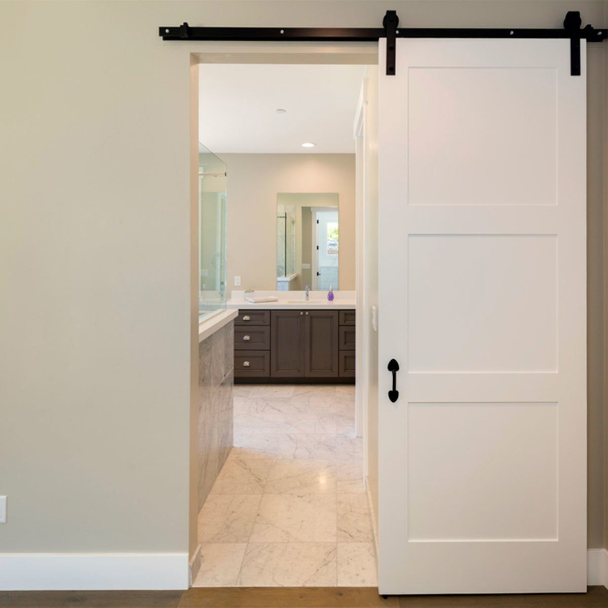White Sliding Barn Doors