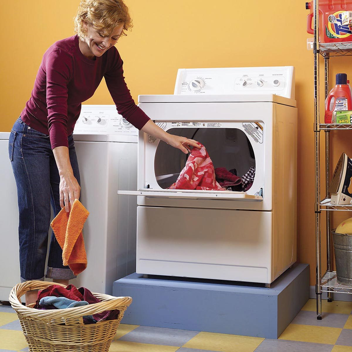 build a washer dryer pedestal