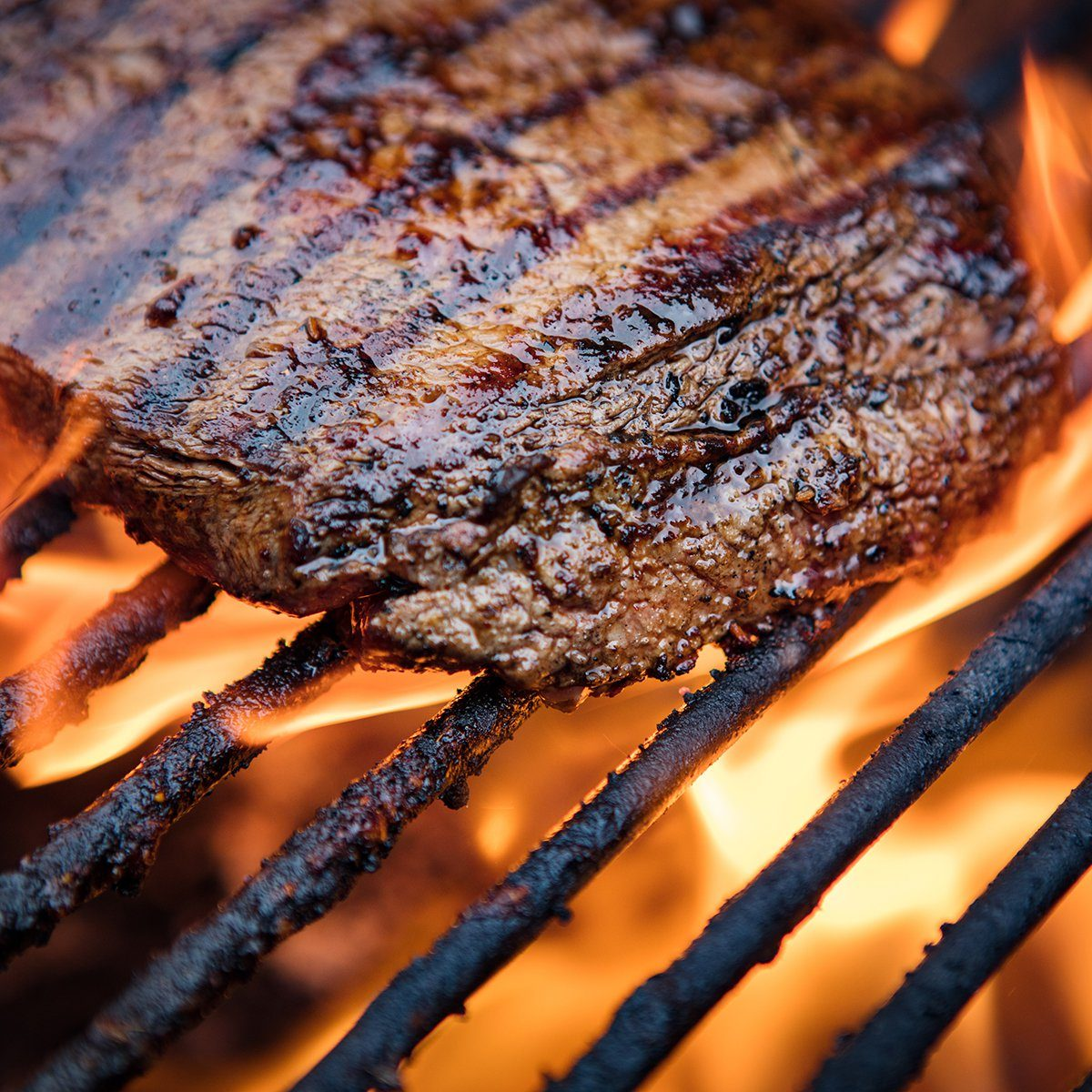 Flank Steak On Grill