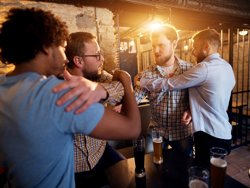 Would-be fight in bar
