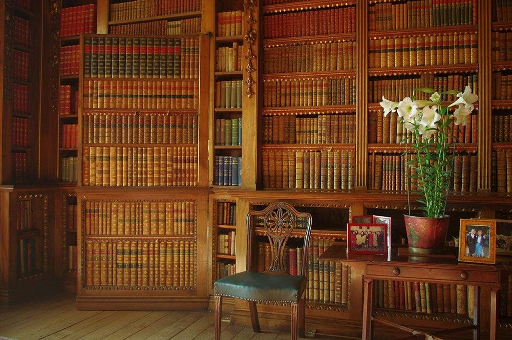 Highclere Castle secret door in library