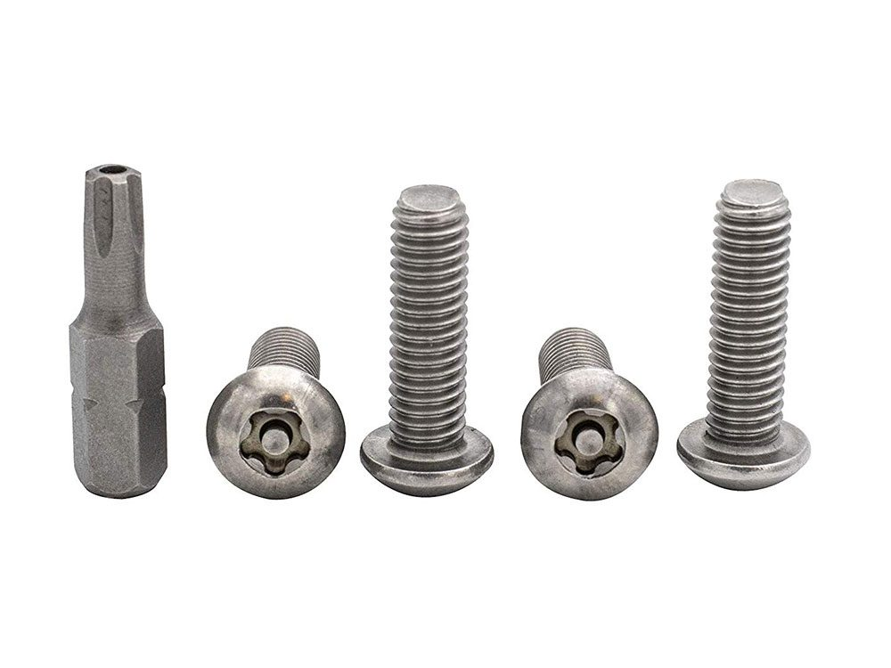 Licence plate security screws