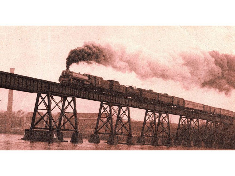 Old photograph of train