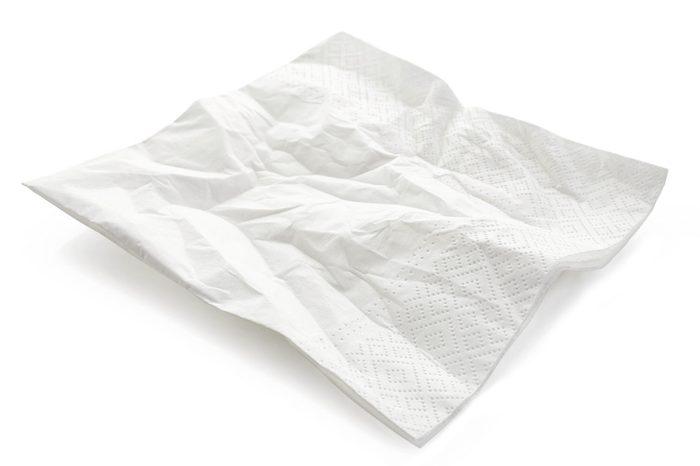 paper napkin isolated on white background
