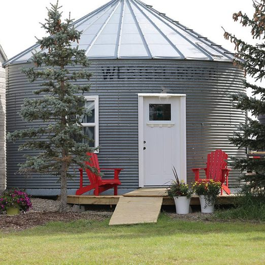 Would You Spend the Night in This Converted Grain Bin?