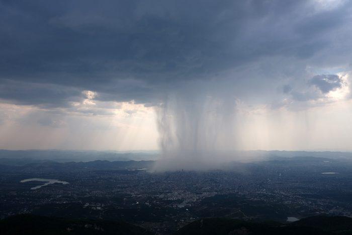 science quiz questions - Rain storm