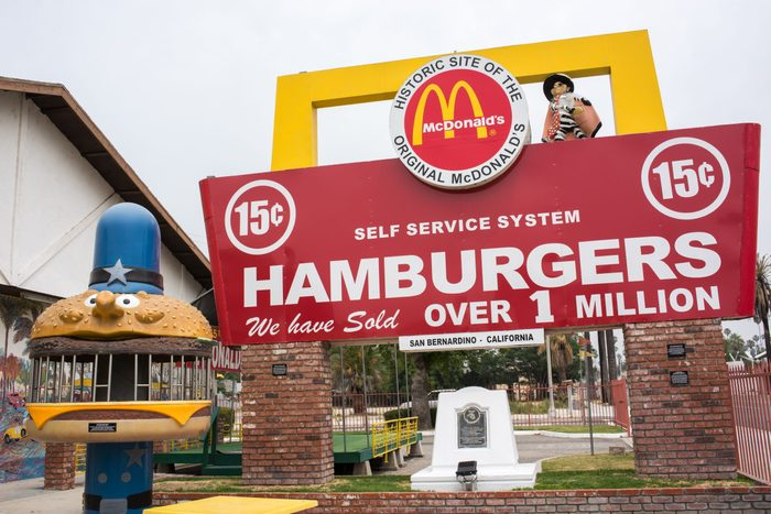 San Bernardino, CA: May 30, 2017: Original McDonald's Site and Museum. The original McDonald's site and museum is free and open to the public and is unaffiliated with the McDonald's Corporation.
