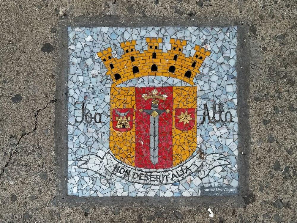 San Juan sidewalk mosaic - 500th anniversary
