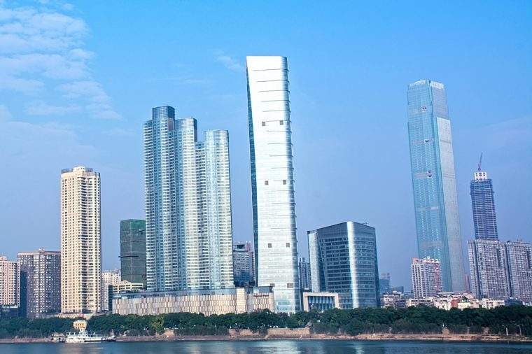 Changsha, Hunan Xiangjiang scenery with the city buildings / Changsha cbd