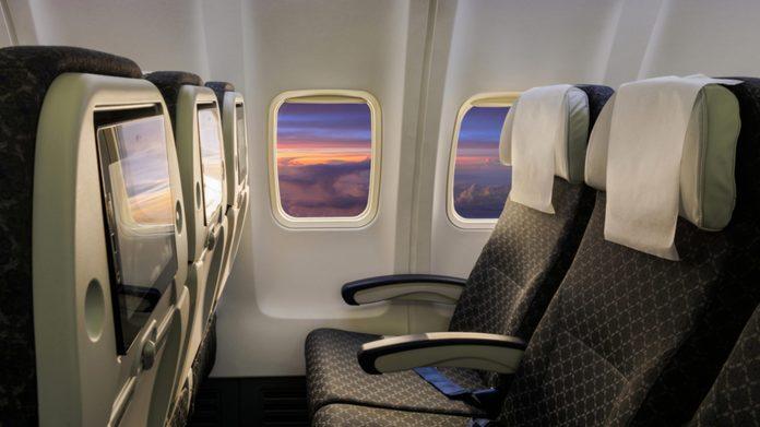 inside an airplane