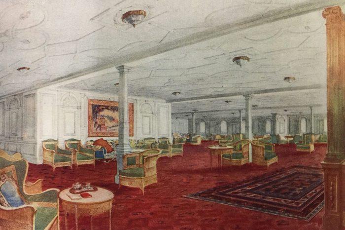 titanic reception room