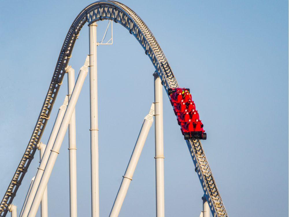 speed roller coaster