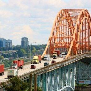 Pattullo Bridge in Surrey, British Columbia