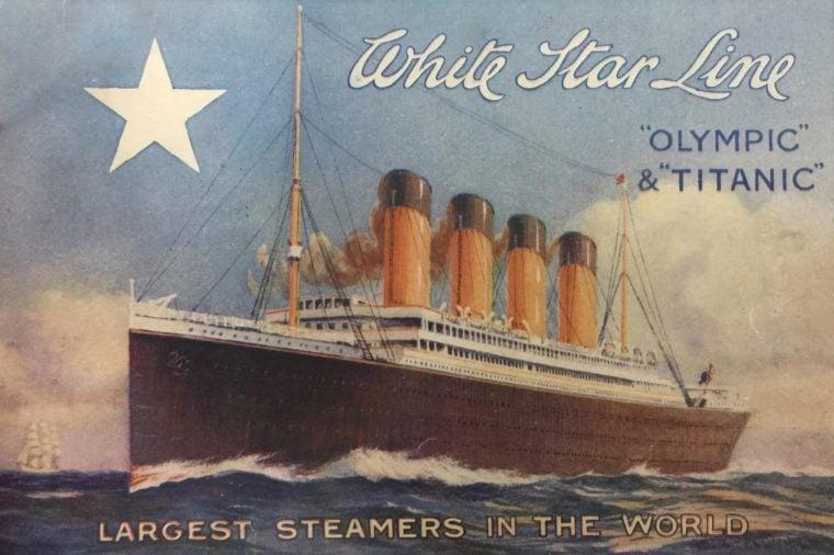 white star line ships brochure