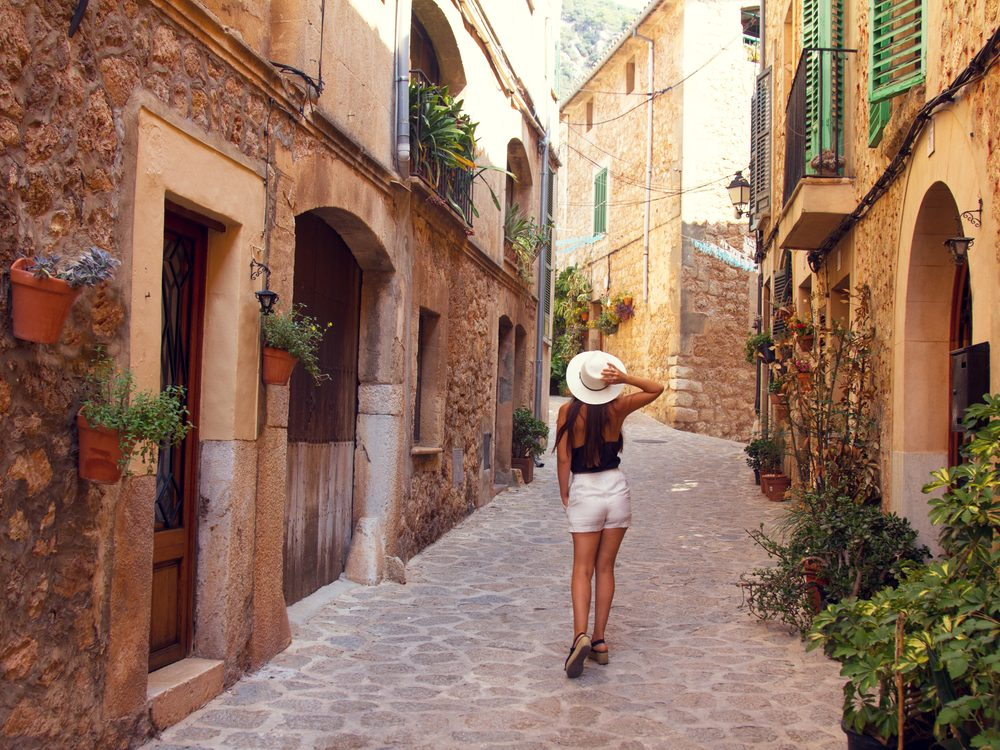 Walking in the streets of Mallorca