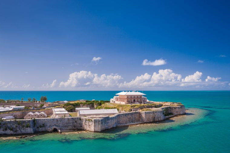 View from above on the Commissioner's house in King's Wharf, Bermuda