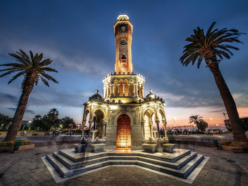 world clocks izmir tower